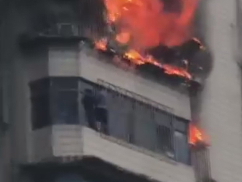 жилец чудом спасся от пожара
