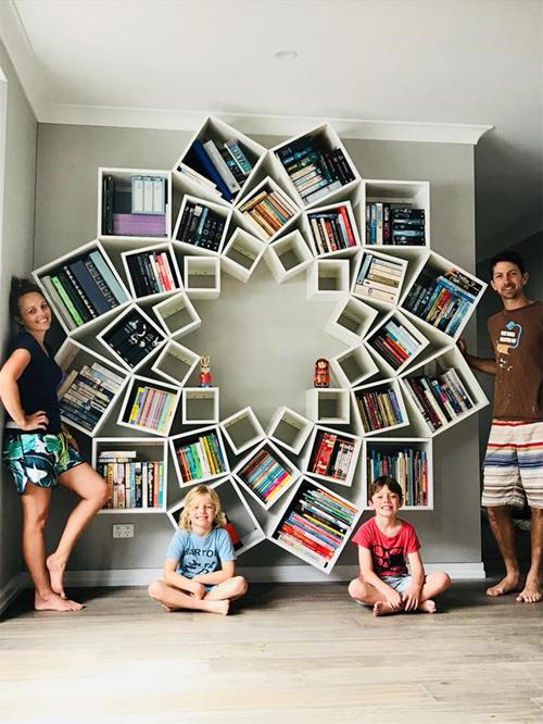 удивительные книжные полки