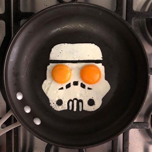 яичница как произведение искусства