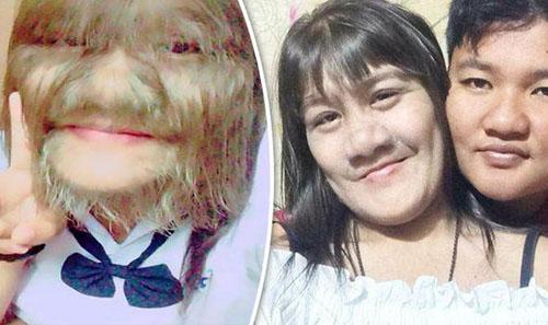 волосатая девушка побрила лицо