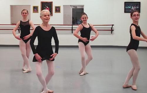 пожилая балерина