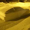 автомобиль из снега