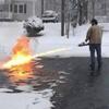 огнемёт для чистки снега
