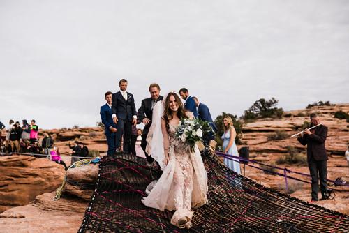свадьба на 120-метровой высоте