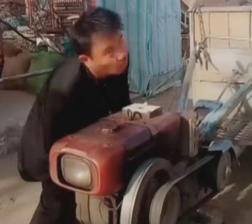 забавная попытка завести двигатель