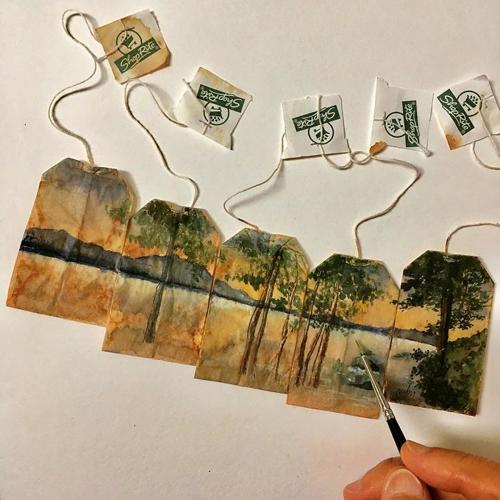творчество на чайных пакетиках