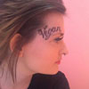 веганская татуировка на лице