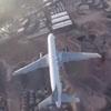 беспилотник подлетел к самолёту
