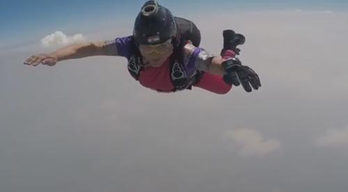 прыжок с парашютом в сари