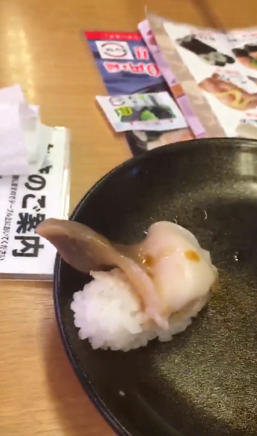 живая еда в ресторане