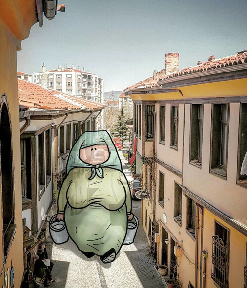 забавные великаны на улицах