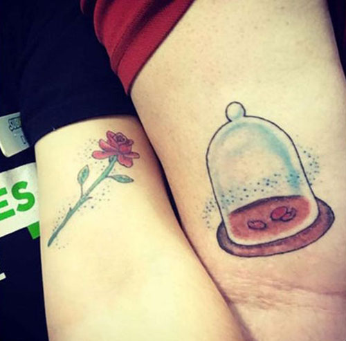 неудачная парная татуировка