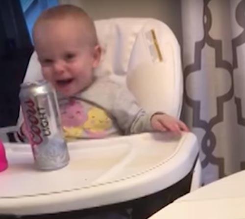 девочка захотела банку с пивом