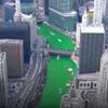 река временно позеленела