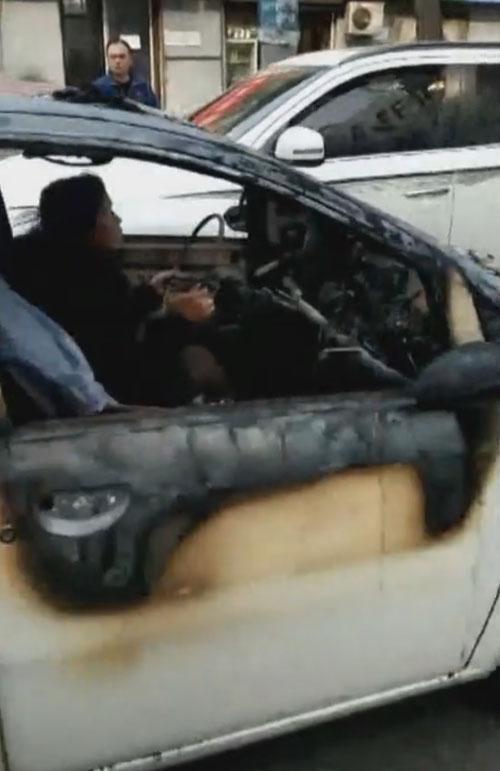 поездка на сгоревшей машине