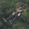 прыжок в ущелье с дочкой