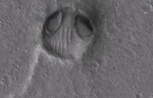 инопланетное лицо на марсе