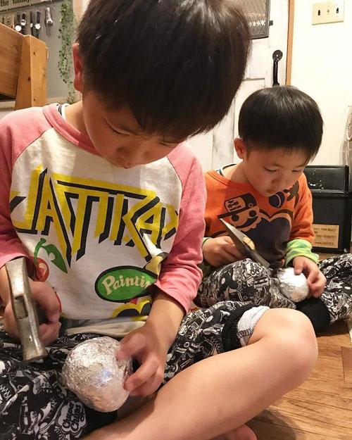 полировка шариков из фольги