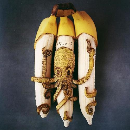 рисование на бананах