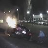 спасение из горящего автомобиля