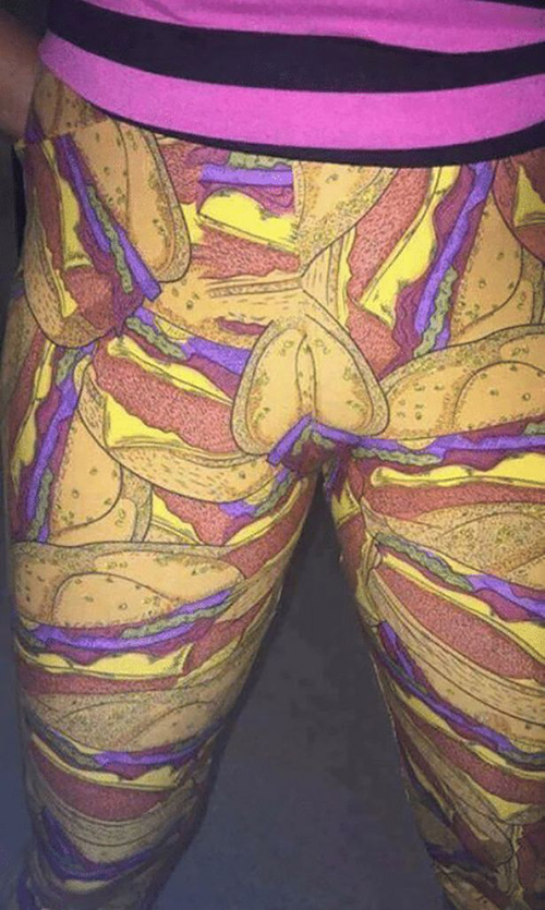 леггинсы с неприличными узорами
