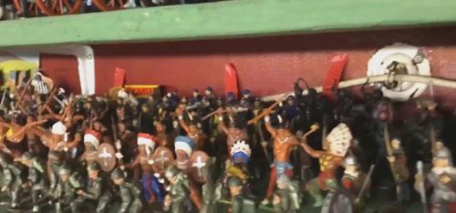 коллекция игрушечных солдатиков