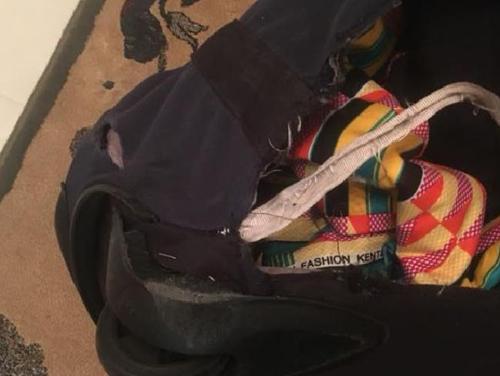 уничтоженный багаж авиапассажирки