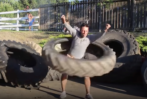 необычный снаряд для тренировок