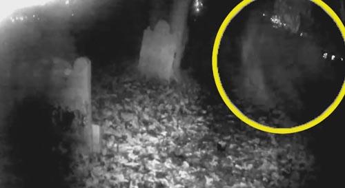 привидение на старом кладбище