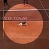 необычная любительница тенниса