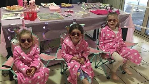 спа-вечеринка для дочерей