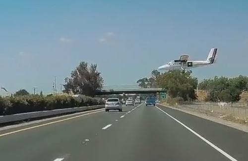 самолёт чуть не задел грузовик