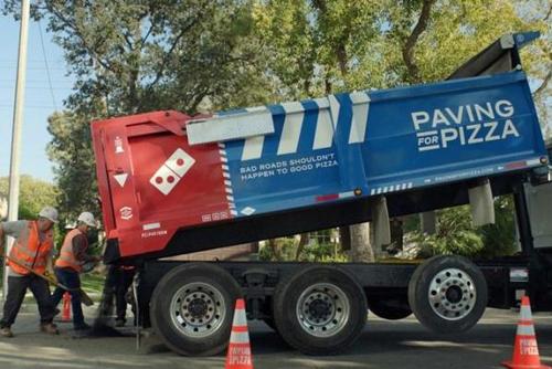 пиццерия ремонтирует дороги