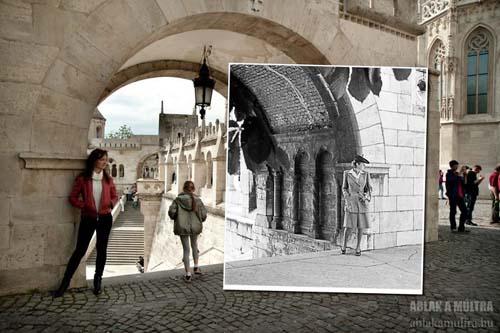сочетание старых и новых фото