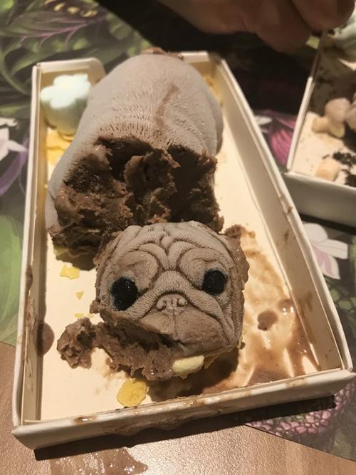 мороженое в виде щенка