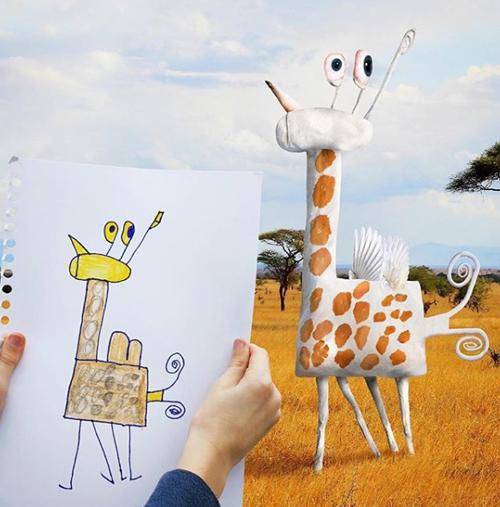 мир населён детскими рисунками