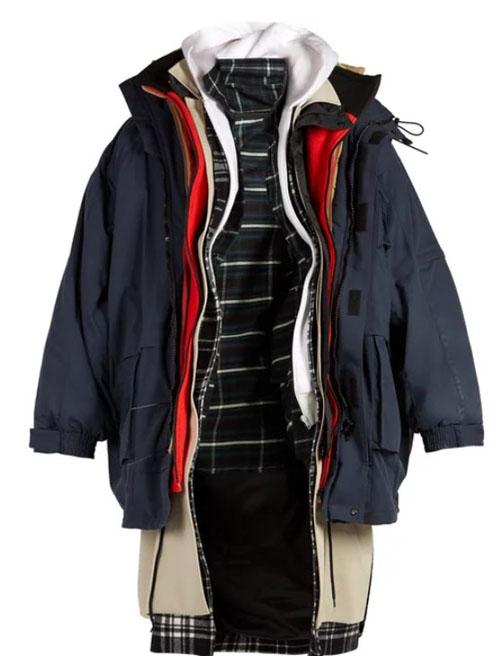 куртка из множества слоёв
