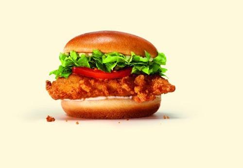 новый куриный гамбургер