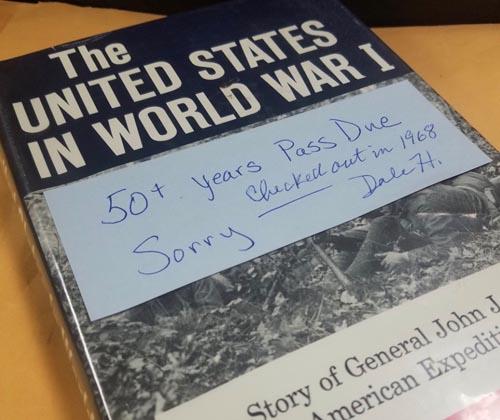 книгу просрочили на 50 лет