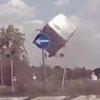 водитель-лихач взлетел в воздух