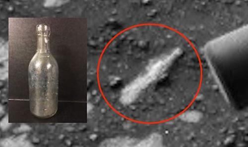 старинная бутылка на марсе