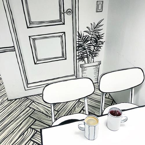 кафе в стиле комиксов