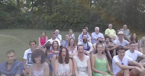 удар дроном по лицу