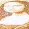 мона лиза из рисовых крекеров