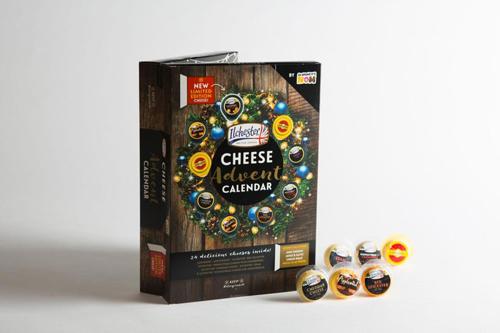 рождественский календарь с сыром