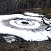следы нло в снегу