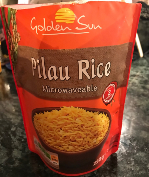 находка в упаковке риса