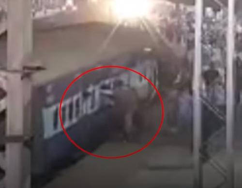 пассажир поезда чуть не погиб