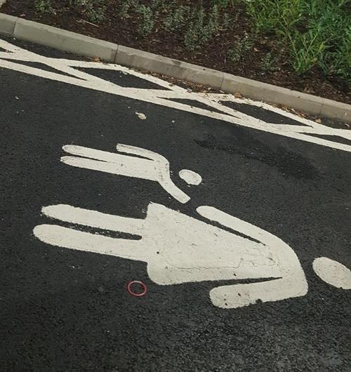 разметка на парковке