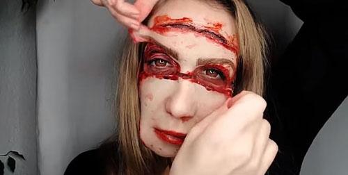 визажистка потеряла лицо